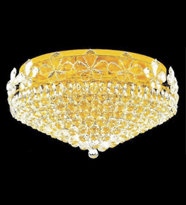 Surface Mounted Elegant 15 Light Crystal Chandelier