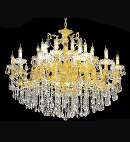 Elegant 24 light crystal drop chandelier