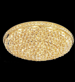Surface mounted 21 light circular crystal chandelier