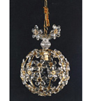 Elegant Floral Detailed 1 Light Ball Style Chandelier.