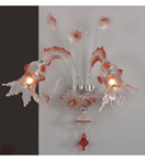 Murano Tinted Glass 2 Light Venetian Style wall lamp.