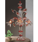Murano Tinted Glass 2 Light Venetian Style Table Lamp.