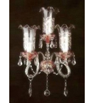 Antique Murano Glass Style 3 Light wall lamp.