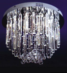 16 Light Crystal Prism Surface Mounted Chandelier