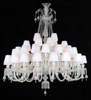 3 Tier Crystal Chandelier with Shades