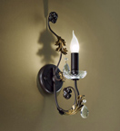 Adele Design Wall Light with Rusty Brown Finish