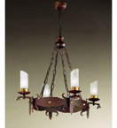 Gladiatore Design 4 Light Chandelier Made From Hand Hammered Metal
