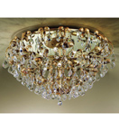 Specchio Design Flush Fitting Chandelier with Mirrored Base