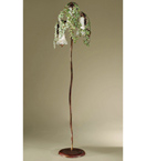 Edera Design Floor Lamp That has hand forged leaves details