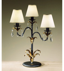 Barocco Collection Tiered Table Lamp with Braided Shade