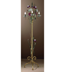 Nontiscordardime design murano glass & hand forged roses floor lamp