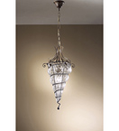 Soffiati design brass pendant chandelier with blown glass