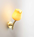 Bud Design Blown Glass and Metal Wall Light