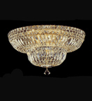 dome shaped surface mounted 9 light crystal chandelier