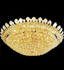 Dome surface mounted crystal chandelier